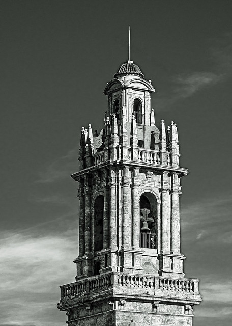 Bell Tower (Convent of Santo Domingo) Valencia (Monochrome) (Olympus OM-D EM5.2 & M.Zuiko 12-100mm F4) (1 of 1)