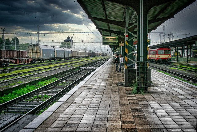 Train Station  @  Valasske Mezirici  2008,  Czech Republic