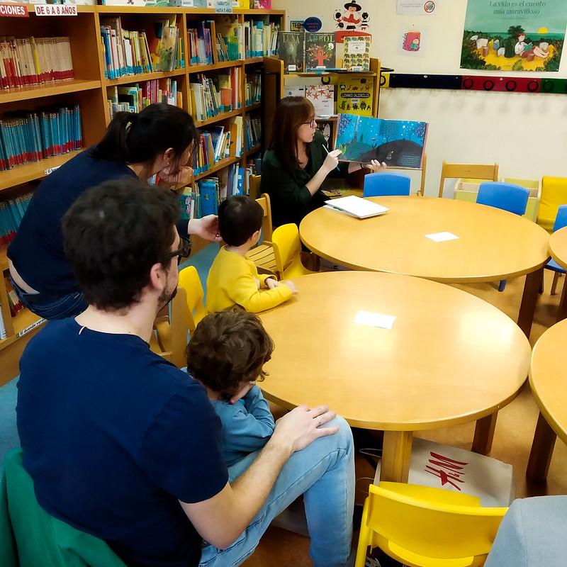 Club de lectura infantil de la Biblioteca Municipal de Torrero. Fotografía: Biblioteca Municipal Torrero.