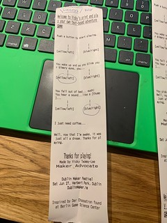 Print your own adventure game with mini thermal printer