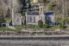 The historic Kilmun Church and Argyll Mausoleum; Kilmun, Argyll, Scotland