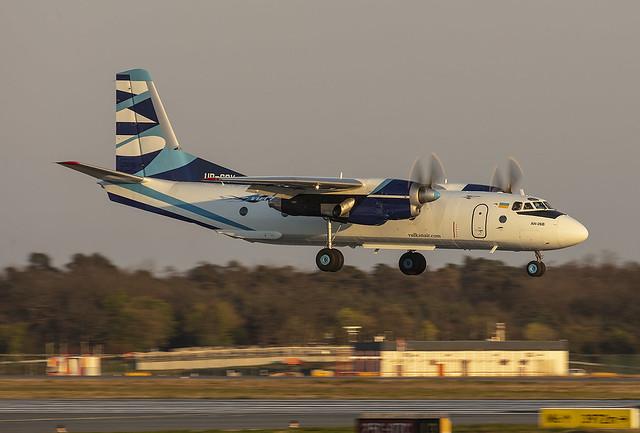 UR-CQV, Antonov An-26B Vulkanair @ Frankfurt FRA EDDF