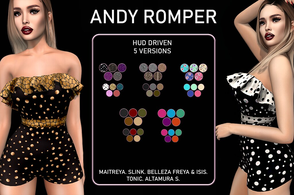 .KIMBRA. ANDY ROMPER. FATPACK