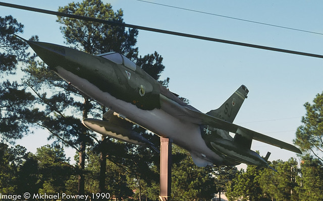 61-0056 - 1961 fiscal Republic F-105D Thunderchief, preserved/displayed at Seymour Johnson AFB