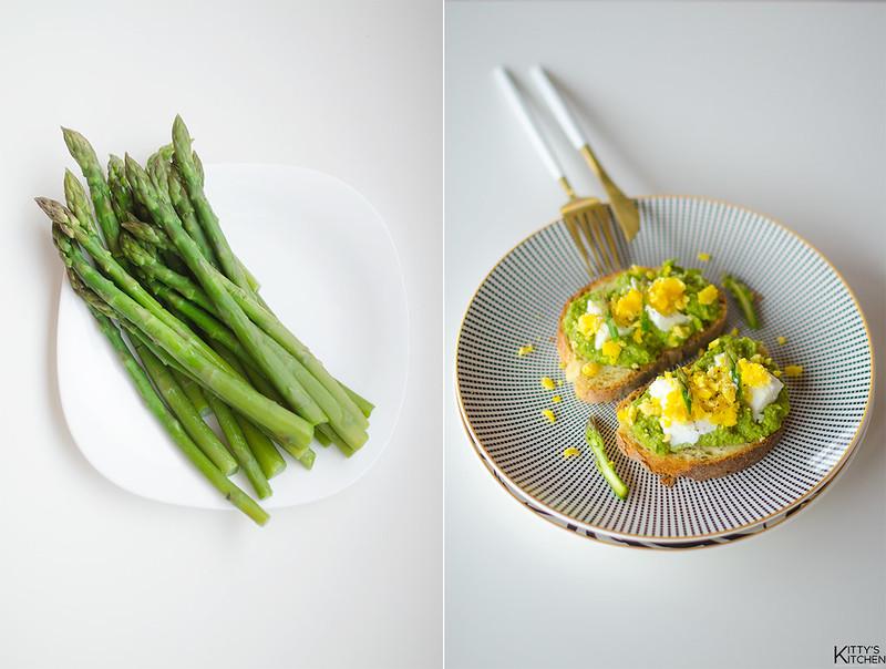 4 antipasti veloci per Pasqua - Bruschetta asparagi, mozzarella e uova