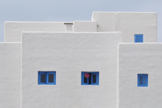 Cuatro ventanas azules