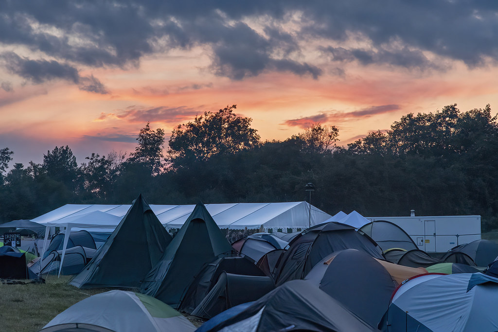 Sunset over Metal Magic Festival camp