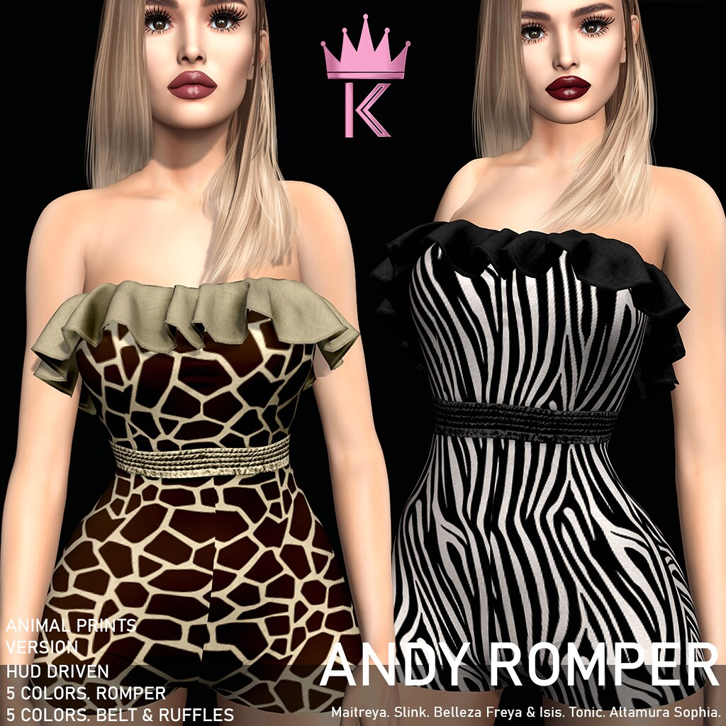 .KIMBRA. – ANDY ROMPER [ANIMAL PRINTS]