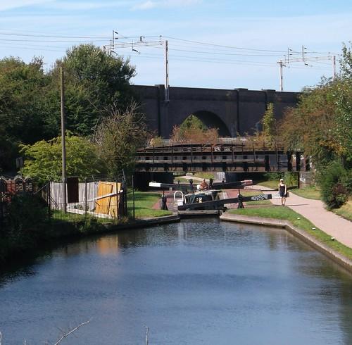 Wolverhampton Canal with rail bridges