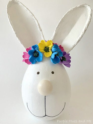 bunny head decorative accent