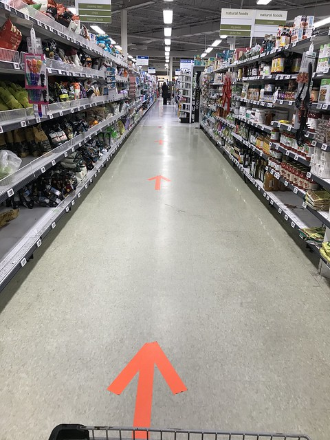 One way aisles at the grocery store