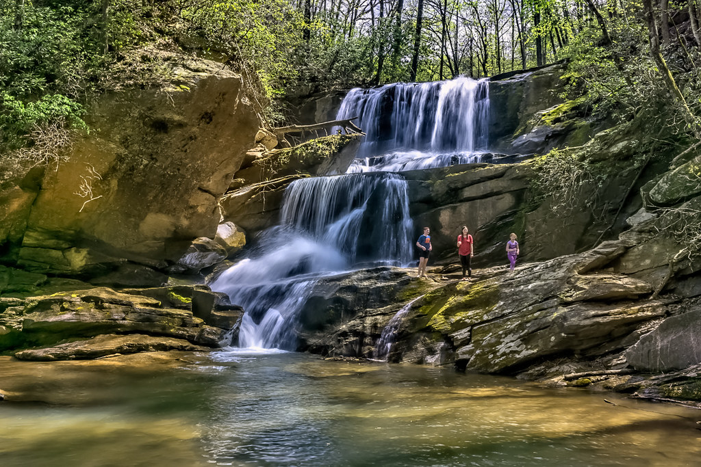 Little Bradley Falls (with some kids)