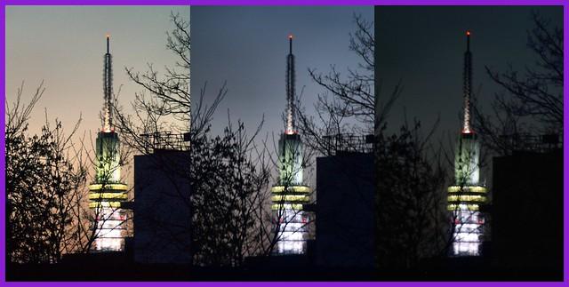 de (voormalige) TV toren in Hilversum