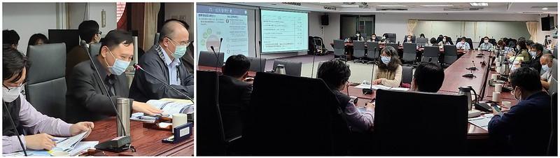 台東縣副縣長王志輝(左圖左二)8日率縣府官員赴內政部營建署,向國土計畫審議會專案小組報告草案內容。彭瑞祥攝。