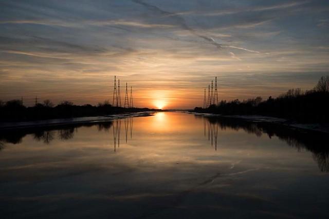 Serene sunset at Preston
