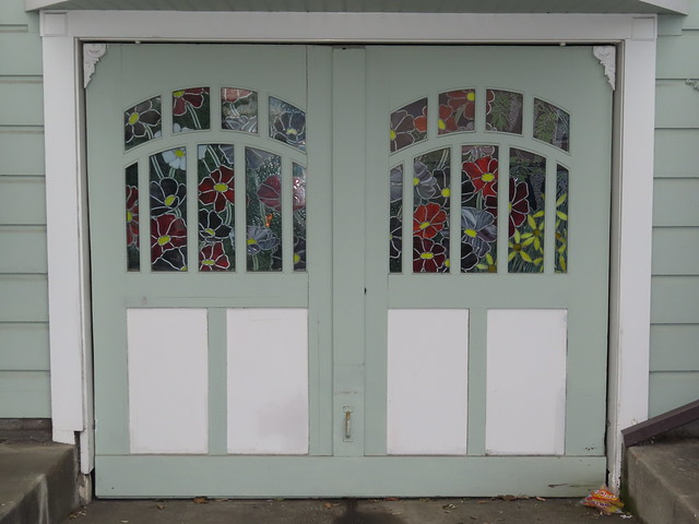 Flowers in the garage