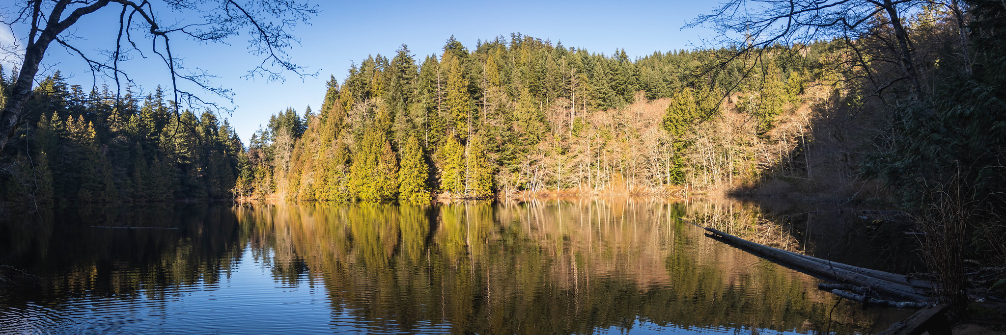Fragrance Lake panoramic view