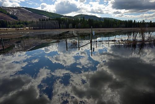 conboy conboylake washington pacificnorthwest wildliferefuge reflection clouds sky mountain lake spring springtime landscape rural wildlife water garyquay nikon