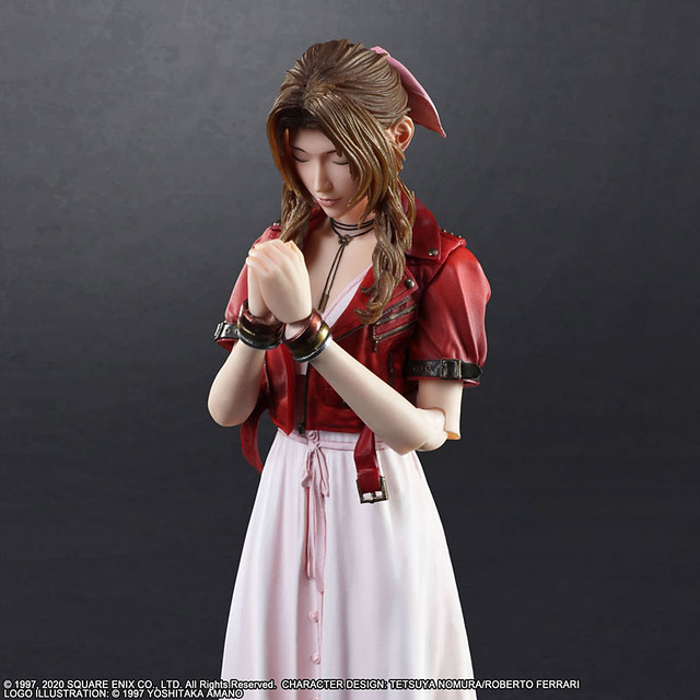 PLAY ARTS改《FINAL FANTASY VII 重製版》艾麗絲.蓋恩斯巴勒(エアリス・ゲインズブール) 可動人偶