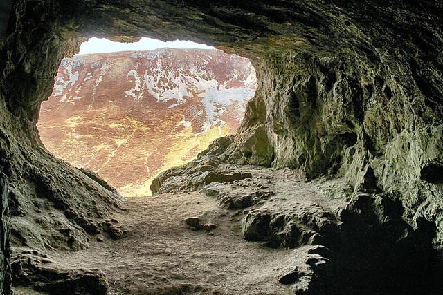 Inside a Bone Cave