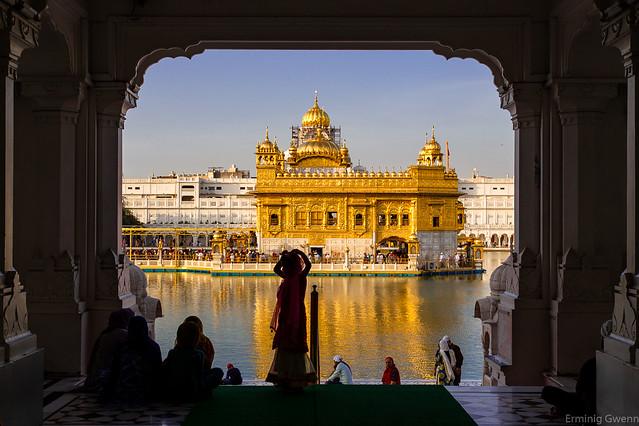 Arrivée au Temple d 'Or - Amritsar, Inde.