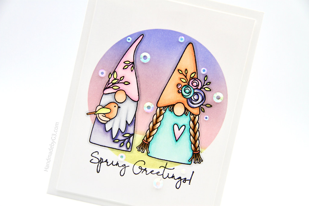Spring Greetings card closeup
