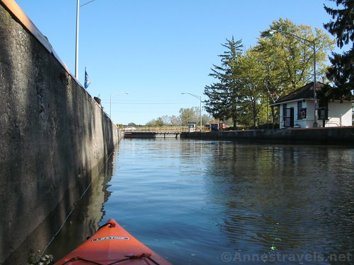 In the full Lock 33, Erie Canal, Rochester, New York