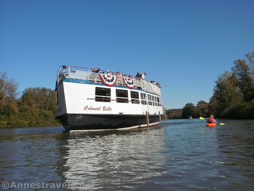 """The """"Colonial Belle"""" on the Erie Canal near Pittsford, New York"""
