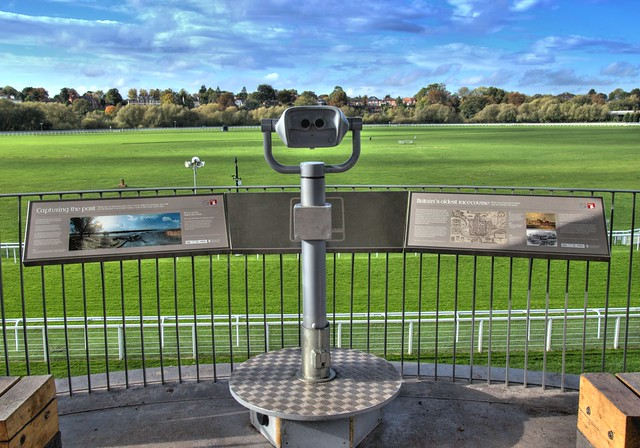 Viewing platform at Chester Racecourse