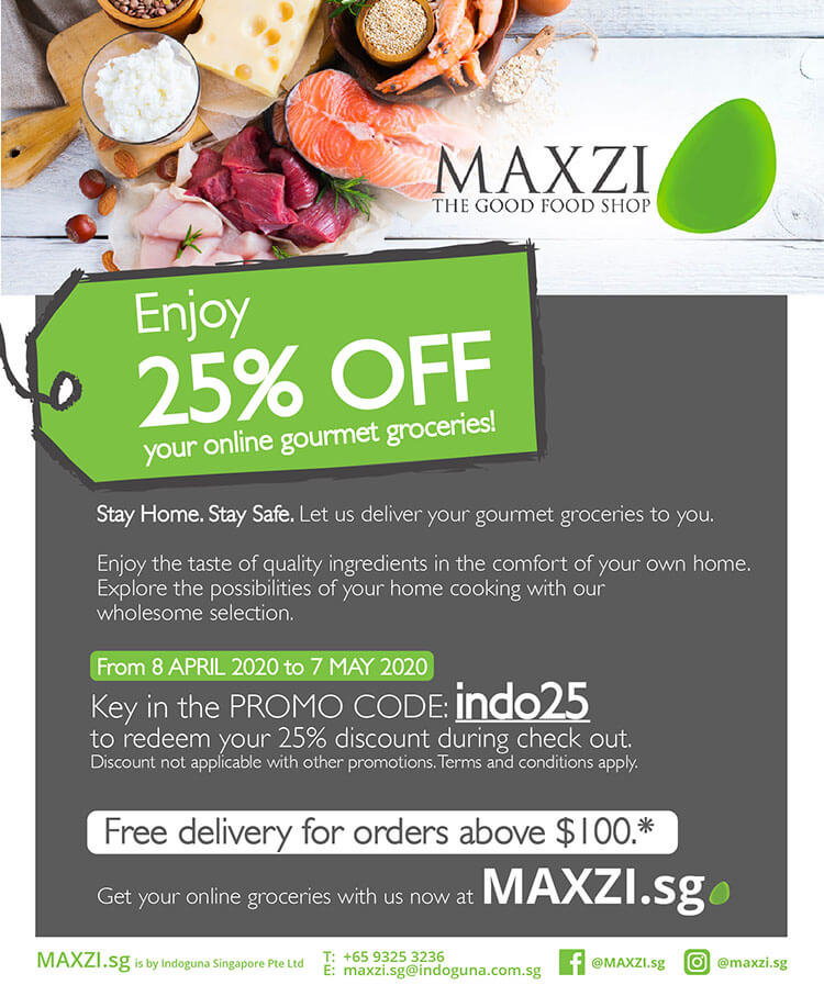 Maxzi Singapore online gourmet groceries
