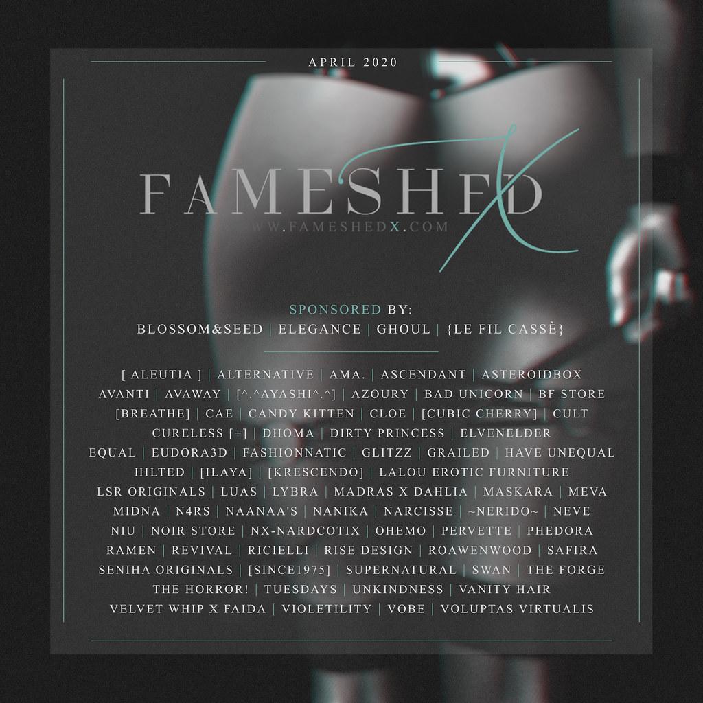 FaMESHedX  April – Now Open!