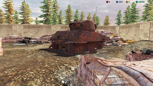 TMC (PC) - M4A3E8 'Easy Eight' in Junk Yard