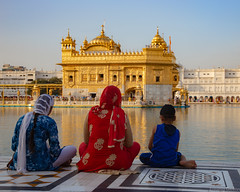 Les trois pèlerins sikhs - Amritsar, Inde