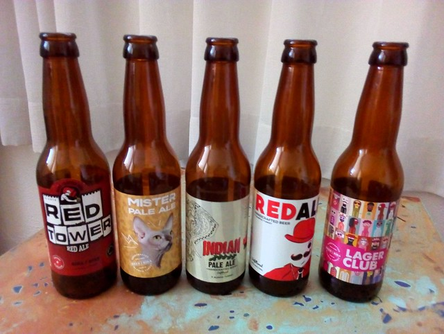 The Red Tower (Alanya) line: Red Ale, Mister Pale Ale, IPA, Red Ale Unfiltered (?) (is this really from Red Tower?), Lager Club by bryandkeith on flickr