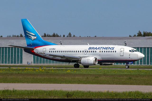Braathens, Boeing 737-500, LN-BRJ (24273)