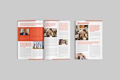 Creative corporate minimalist newsletter template design