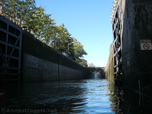 Entering Lock 32, Erie Canal near Pittsford, New York