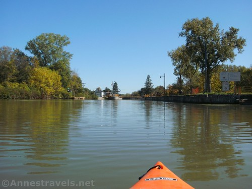 Approaching Lock 33 from above, Erie Canal, Rochester, New York
