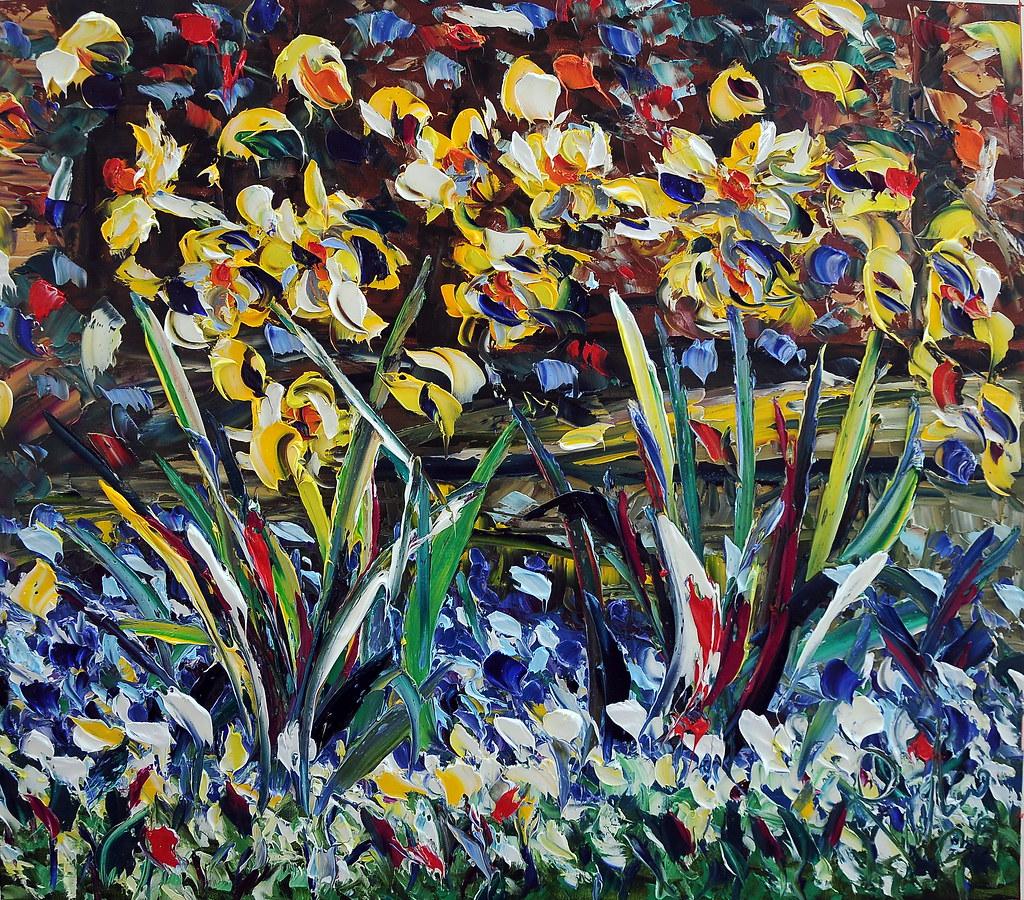nuova primavera olio su tela 80x100cm 2020