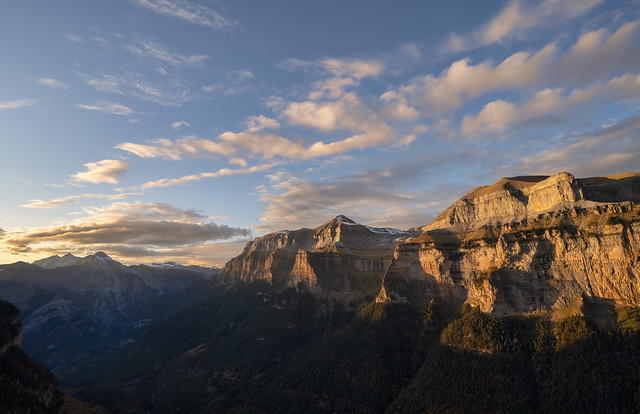 Sunset in Ordesa Canyon