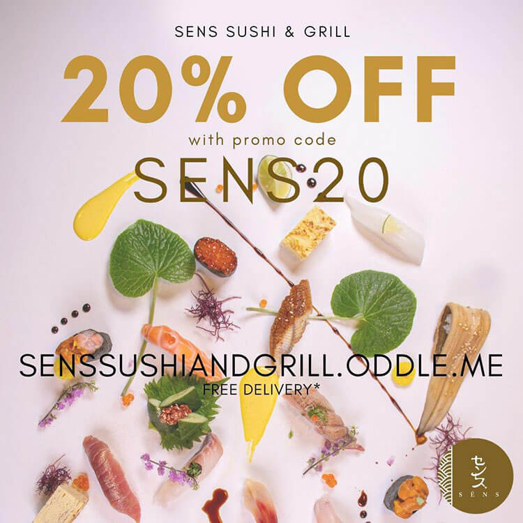 Japanese SENS takeaway promotion in Singapore