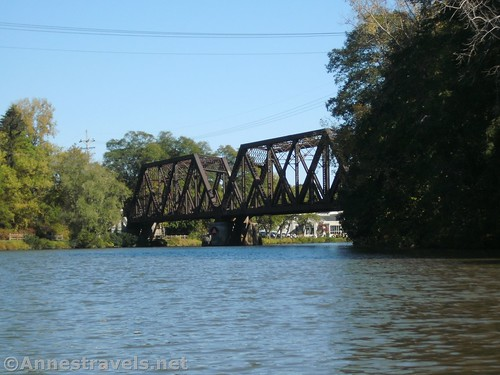 Old rail bridge just west of Pittsford on the Erie Canal, New York