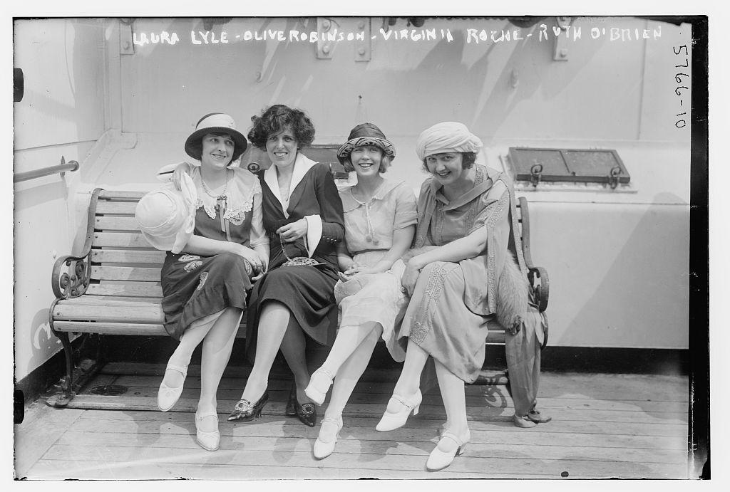 Laura Lyle, Olive Robinson, Virginia Roche, Ruth O'Brien (LOC)