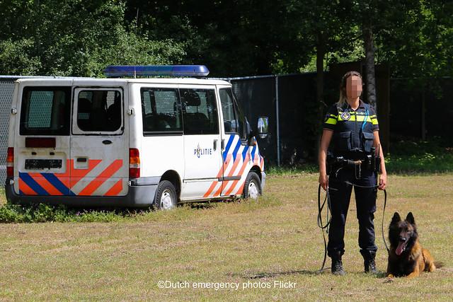 Dutch police dog handler