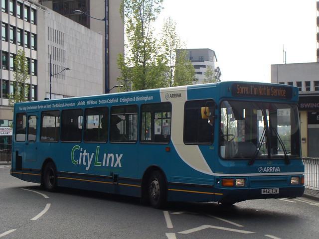 Arriva Midlands 3421 R421TJW