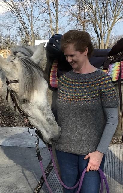 Kathy (knotty64) finished her Aurealis test knit