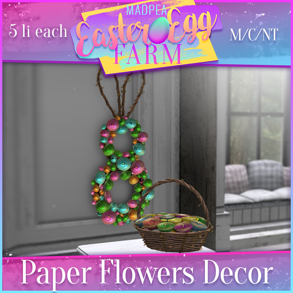 MadPea Easter Egg Farm Prize: Paper Flowers Decor!