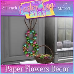 MadPea Easter Egg Farm Prize: Paper Flowers Decor!