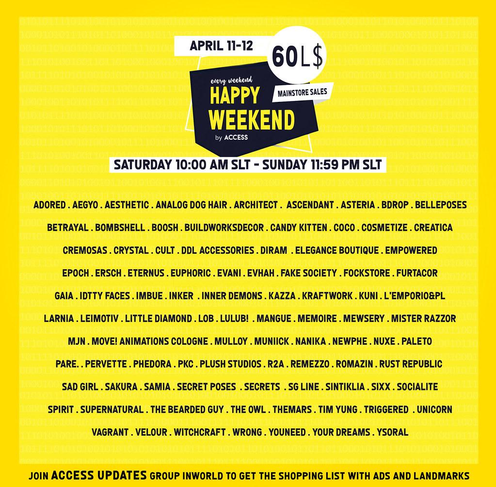 Happy Weekend  April 11-12