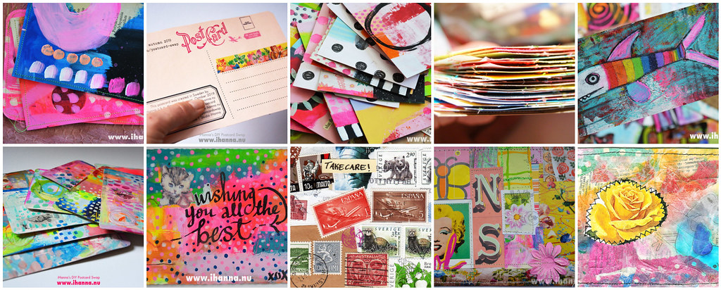 My creation: the DIY Postcard Swap
